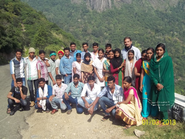 Trainees on Excursion at Munnar on January 2013